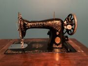 Vintage Singer Sewing Machine 15 With Cabinet 1925