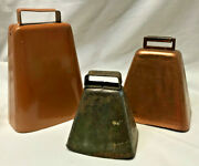 3 Working Metal Cowbells Dinner Bell Small Medium Large Home Interior Decorative