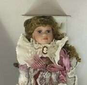 New Geppeddo Doll 16n983 W Box With Tag Victorian Girl With Broach Collectible