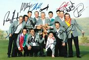 Ryder Cup Team Signed 12x8 Photo Signed By 13 Celtic Manor 2010 Aftal Coa A