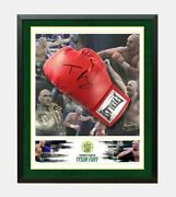 Tyson Fury Signed And Framed Boxing Glove In Perspex Bubble Aftal Coa B