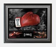 Mike Tyson Signed And Framed Boxing Glove Bubble Dome Aftal Coa B