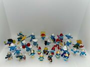 29 Lot Of Vintage Smurfs Action Figures No Repeats