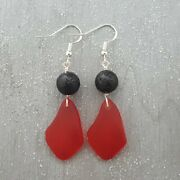Hawaii Volcanic Eruption With Lava And Fire Jewelry Lava Rock And Red Sea Gl