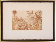 Charles Bragg - Procession Etching Signed Proof Third State Circa 1965