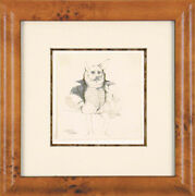 Charles Bragg - Untitled Pencil Sketch Signed Mouse With Uniform With Sword