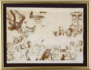 Charles Bragg - Procession Etching Signed Printers Proof Circa 1965