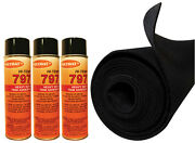 12and039x45 Black S60 Polymat Carpet +3 Cans 797 Glue Comp W/ Drift Boat Trailer
