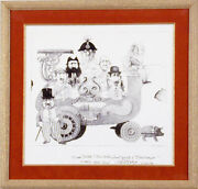 Charles Bragg - Bandwagon Annotated Etching First Print Signed 02/23/2003
