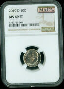 2019 D Roosevelt Dime Ngc And Mac Ms 69 Ft