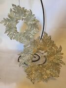 Christmas Ornament High Shine Wreaths 6 - Two Identical Sides Non-breakable