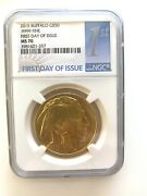 2015 Gold American Buffalo 50 Ngc Ms70 1oz .9999 Fine First Day Of Issue
