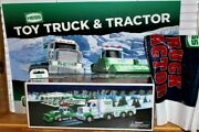 Hess Toy Truck And Tractor W/ Bag - Batteries - 19.5 X 13.5 Retail Sign 2013 New