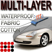 Fit Jaguar Car Cover Indoor Outdoor Soft Cotton Breathable Layer Ptotection