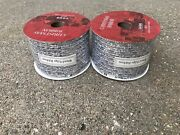 Silver Woven Tinsel Wire Edge Christmas Ribbon Lot 60 Feet 20 Yards