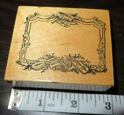 Psx Musical Instruments Frame F-283 Christmas Holidays Tag Retired Rubber Stamp