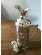 Vintage Collectible Gg Large Silver Plate Insulated Decanter Flask. Gift