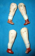 Lot Antique Bisque Doll Legs /painted Germany