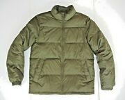 Lands End Brown Warm Down Winter Jacket Casual Puffer Ski Hiking Coat Sz Menand039s M