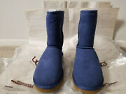 Ugg Classic Short Boots Size Usa 7 Medieval Blue New No Box-very Nice Htf L@@k
