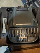 Vintage Stenograph Reporter Shorthand Machine And Case