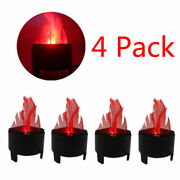 4 Pack Electric Led 3d Fake Fire Lamp Torch Flame Light For Christmas Party Deco