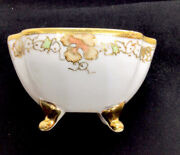 Nippon Rc Footed Berry Bowl Hand Painted W/gold