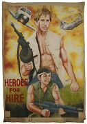 Ghana Movie Poster Hand Painting African Cinema Flour Sack Art Heroes For Hire
