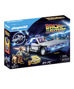 Playmobil Back To The Future Delorean Toy Playset With 2 Figures, Multi 64 Piece
