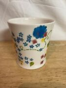 Starbucks 2006 Flower Coffee Cup Forget-me-nots. Watercolor B1