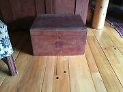 Antique Advertising Wooden Box Crate Trunk Great Coffee Tbl Typewriter Box 1902