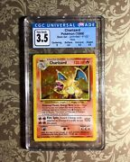 Pokemon 1999 Base Set Charizard Holo Cgc 3.5 Doing Its Best Condition Low Pop