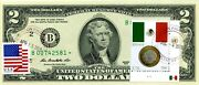 2 Dollars 2013 Star Stamp Cancel Postal Flag From Mexico Lucky Money 500