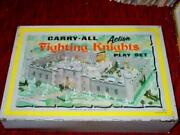 Marx Toys 1968 Fighting Knights And Vikings Metal Carry Action Castle Case Only