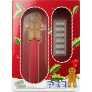 30 Gram Pamp Suisse Gingerbread Man Pez Dispenser And Silver Wafers 9999 Fine Box