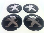 New 4pcs Silicone Stickers For Wheel Centre Cap Hubs For Peugeot - 50mm