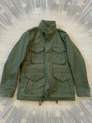 Iron Heart Back Satin M-65 Field Jacket Olive Cotton Size Xs Used From Japan