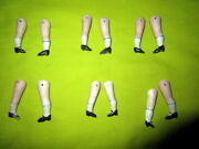 6 Pair Lot Antique Painted Bisque Doll Legs,parts -repair -germany -1900 1.8