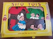 Rare Vintage Sifo Wooden Puzzle There Was An Old Woman Who Lived In A Shoe W/box