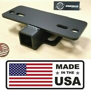 [sr] 5000lb Step Bumper Mount Mounting For 2 Hitch Receiver Rv Trailer Truck