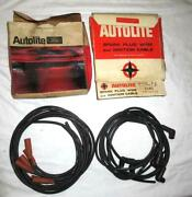 Nos 1966 1967 Autolite Ford 2101 446eb Spark Plug Cable Wire Set And Misc Lot 1972