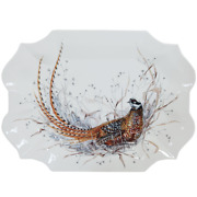 Gien France 'sologne' Large Pheasant Serving Tray, Factory New