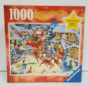 Santa's Flying Visit New Ravensburger Puzzle Limited Christmas Ed 1000 Pieces