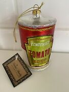 Robert Stanley Vintage Christmas Ornament Campbell's Soup Can New With Tags Rare