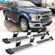 Fits 15-20 Ford F150 Supercrew Cab Running Boards Side Step Bar Silver Nurf Bars