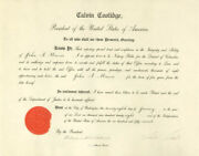 Calvin Coolidge - Civil Appointment Signed 01/28/1928 With Co-signers