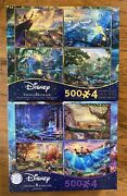 Disney Thomas Kinkade 4 In 1 Multi-pack 500 Pieces Jigsaw Puzzle New 8 Puzzles
