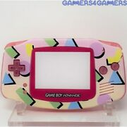90s Yellow Pastel Retro Gba Complete Handheld Game Boy Backlit Ips Advance Shell