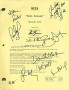 Ncis Tv Cast - Script Signed With Co-signers
