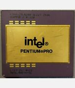 Gold Intel Pentium Pro Cpu 256k 200mhz Sl22t Processor Gold Recovery Collection